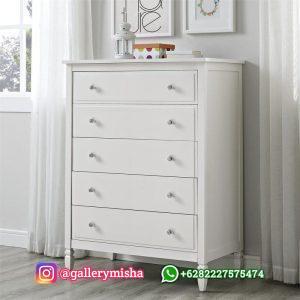 Drawer Lemari Laci Cat Duco Putih