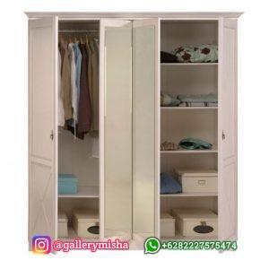 Lemari Pakaian Pintu 4 Duco Putih