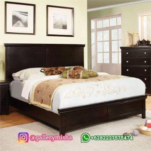 Ranjang Tidur Jati Modern Minimalis