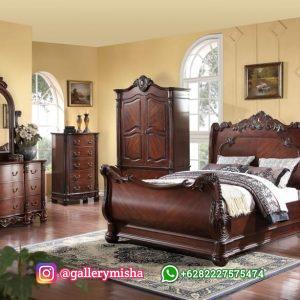 Set Kamar Tempat Tidur Jati Klasik