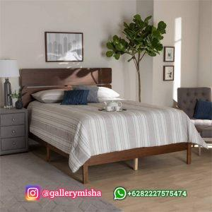 Tempat Tidur Jati Minimalis Model Retro Modern