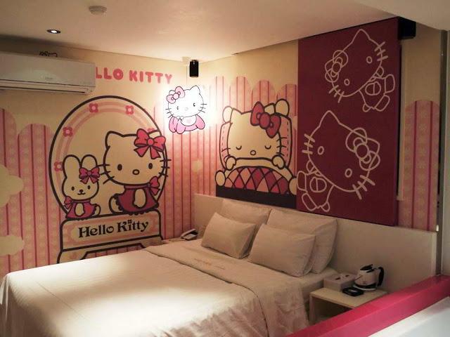 model desain interior kamar tidur hello kitty 007