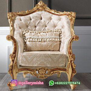 Kursi Tamu Sofa Mewah Gold