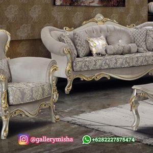 Sofa Ruang Tamu Mewah Klasik Carlos