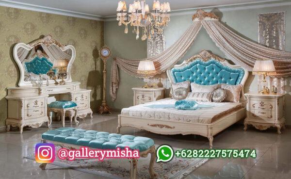 Set Tempat Tidur Mewah Putih Duco
